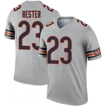 Men's Chicago Bears Devin Hester Legend Inverted Silver Jersey By Nike