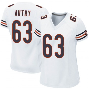 Women's Chicago Bears Lee Autry White Game Jersey By Nike