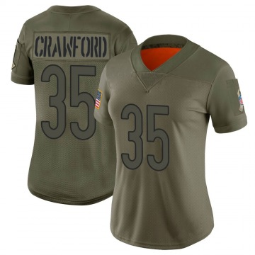 Women's Chicago Bears Xavier Crawford Camo Limited 2019 Salute to Service Jersey By Nike