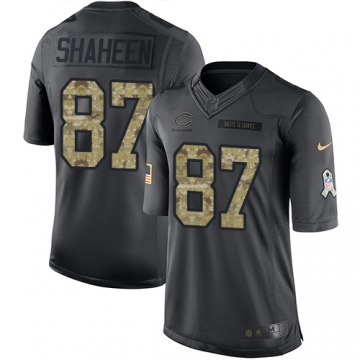 Youth Chicago Bears Adam Shaheen Black Limited 2016 Salute to Service Jersey By Nike