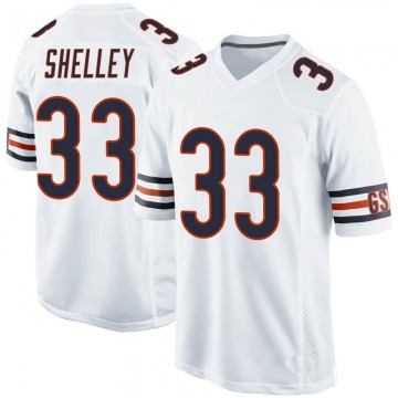 Youth Chicago Bears Duke Shelley White Game 100th Season Jersey By Nike