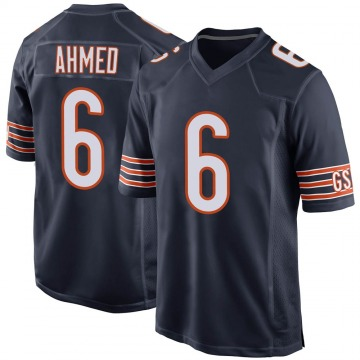 Youth Chicago Bears Ramiz Ahmed Navy Game Team Color Jersey By Nike