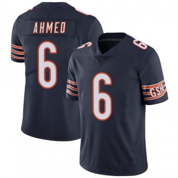 Youth Chicago Bears Ramiz Ahmed Navy Limited 100th Season Jersey By Nike
